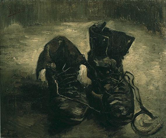 Les Godillots, de Vincent Van Gogh (1886)