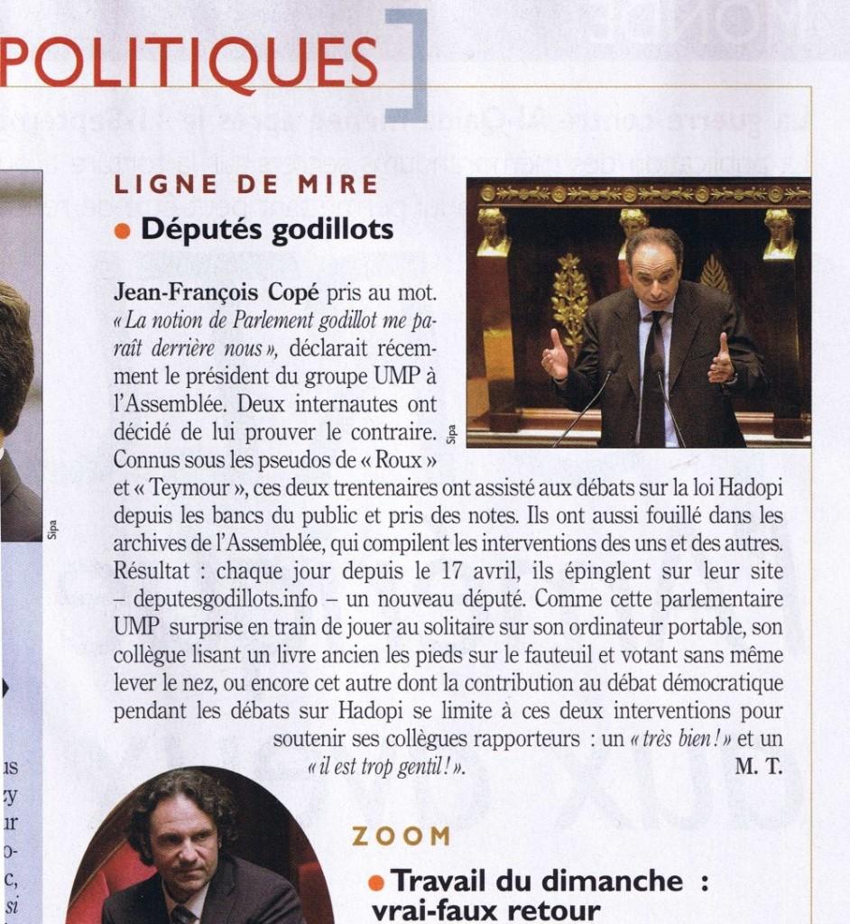 Extrait du Nouvel Observeur du 30 avril 2009